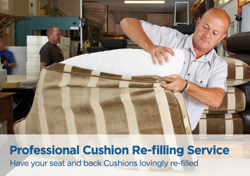 Professional cushion re-filling service
