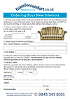 Cushion Refilling Ordering Form