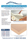 Traditional Latex Mattress Overlay